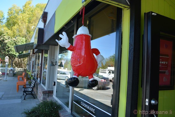 Chili Pepper Hanging on Main Street in Half Moon Bay
