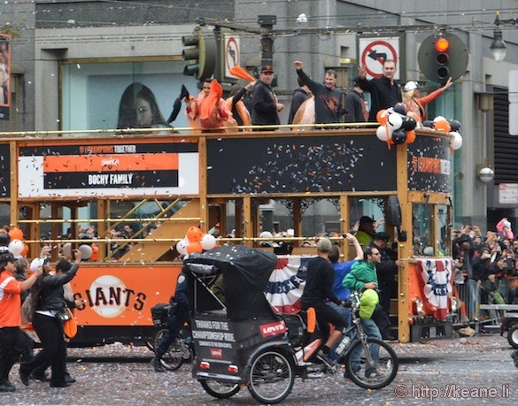 SF Giants World Series 2014 Parade - Bochy Family