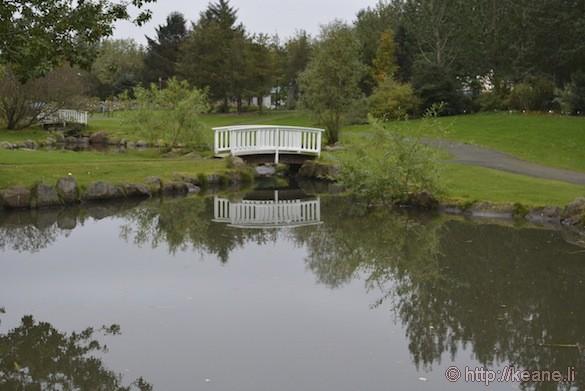 Reykjavík, Iceland - Bridges in Grasagarður Reykjavíkur Botanic Garden