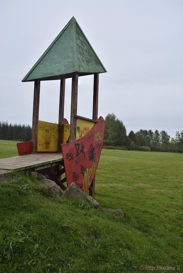 Reykjavík, Iceland - Watchtower in Grasagarður Reykjavíkur Botanic Garden