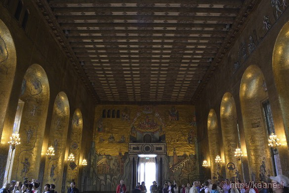 Golden Room in Stockholm City Hall