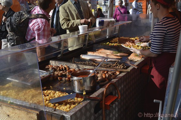 Grilled Meat and Seafood at Market Square in Helsinki