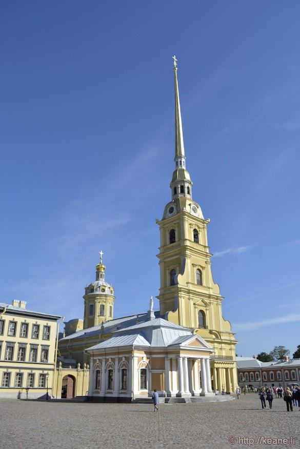 The Cathedral of Saints Peter and Paul in St. Petersburg