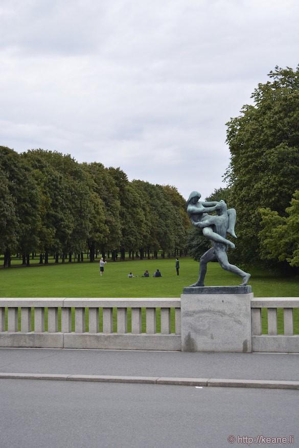 Gustav Vigeland Sculpture in Frogner Park in Oslo