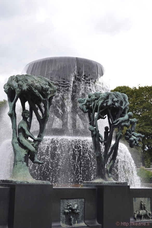 Gustav Vigeland Fountain in Frogner Park in Oslo