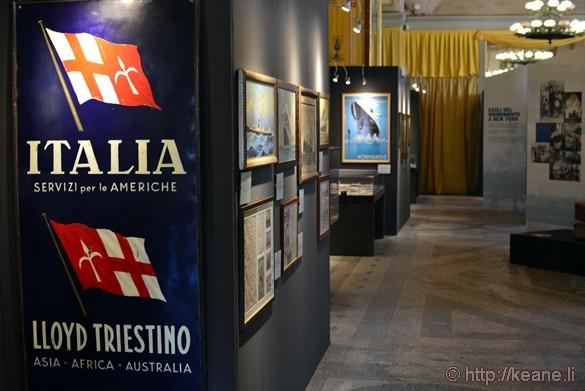 """""""Partono i Bastimenti"""" Temp Exhibit in the Sala Gialla at Teatro Politeama"""