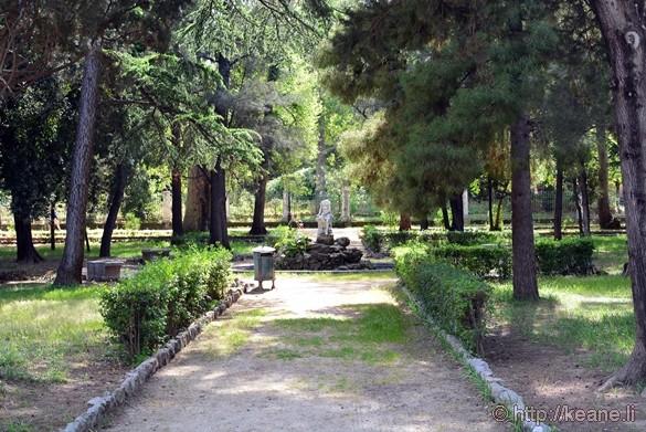 Statue in Villa Giulia Park in Palermo