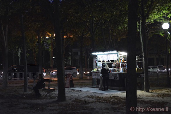 Champs-Élysées - Food Vendor at Night
