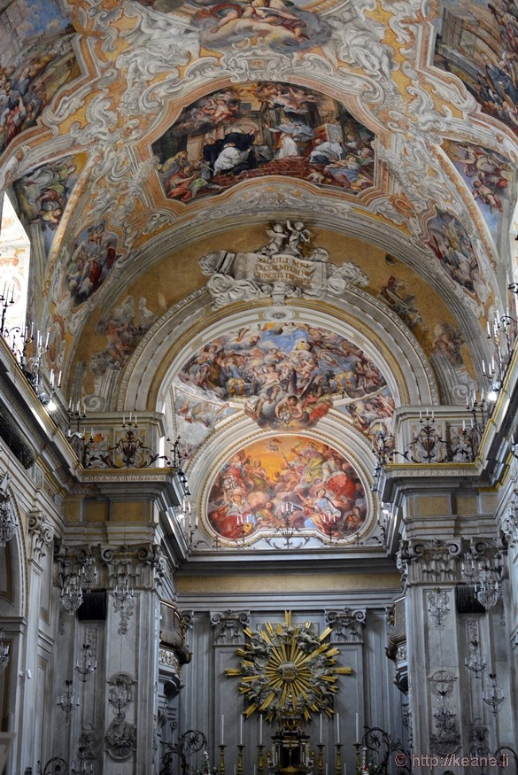 Ceiling and Frescoes in the Chiesa di San Benedetto