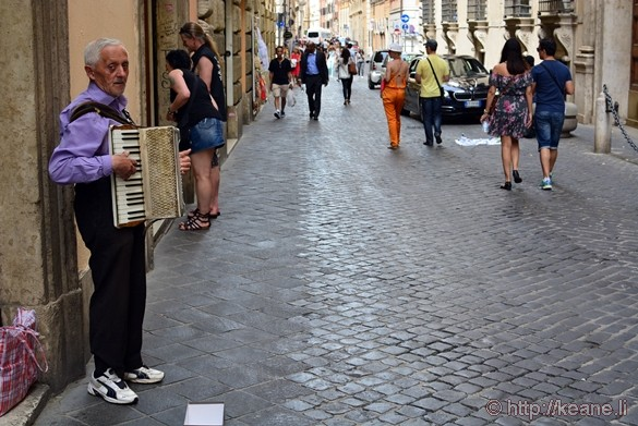 Accordion Player in Rome's Centro Storico