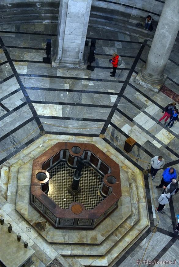 Inside the Battistero di San Giovanni Battista