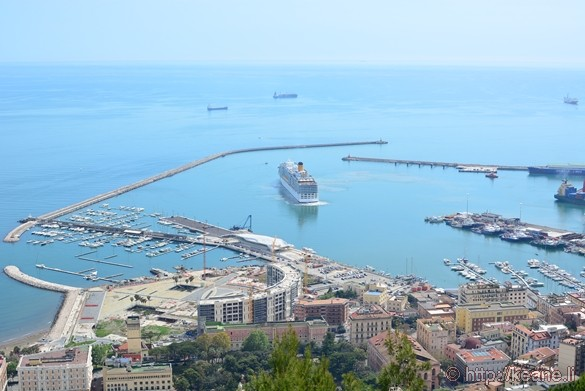 View of Salerno Port