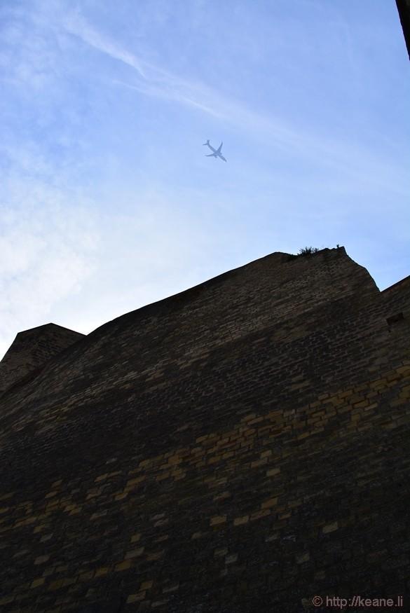 Airplane over Castel dell'Ovo