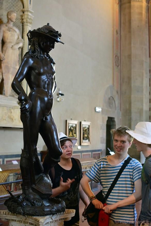 Donatello's David in Palazzo Vecchio