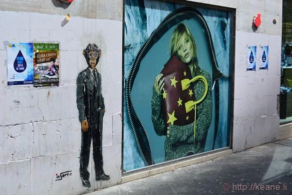 Street Art in Piazza Gioia Flavio in Salerno