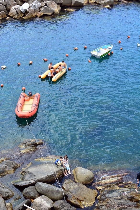 Cinque Terre - Boats in Riomaggiore
