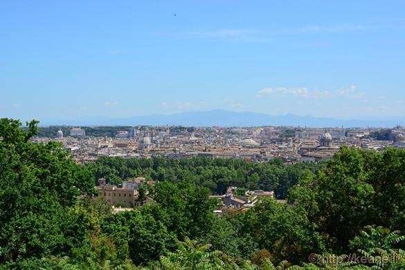 View of Rome from Gianicolo's Piazza Garibaldi