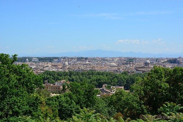 View of Rome from Gianicolo's Piazza Garibaldi