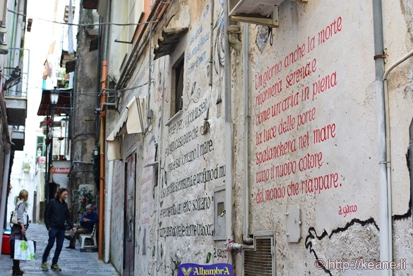 Poetic Quotes Street Art in Salerno