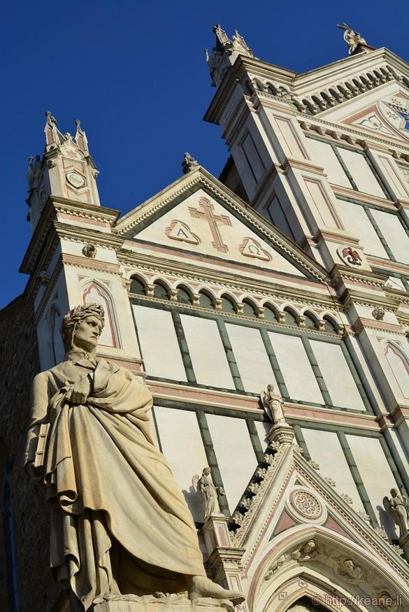Statue of Dante in the Piazza di Santa Croce