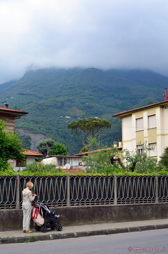 Camaiore - Rain Clouds and Woman with Child