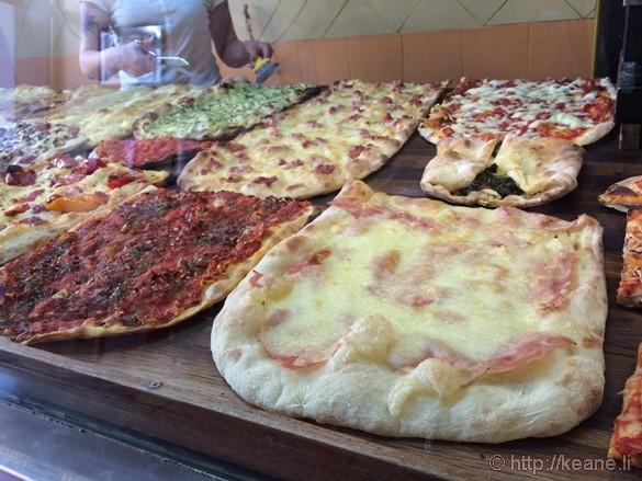 Roman Pizza at Pizzeria Salernitana in Flaminio