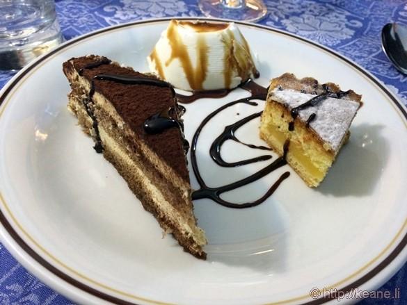 Dessert at Lo Schiaccianoci in Pisa