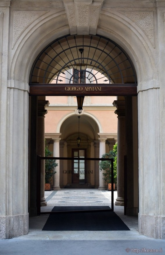 Giorgio Armani Building in Brera in Milan