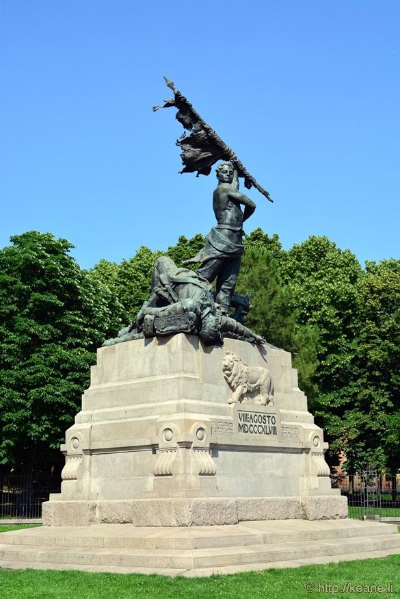 Statue in the Parco della Montagnola