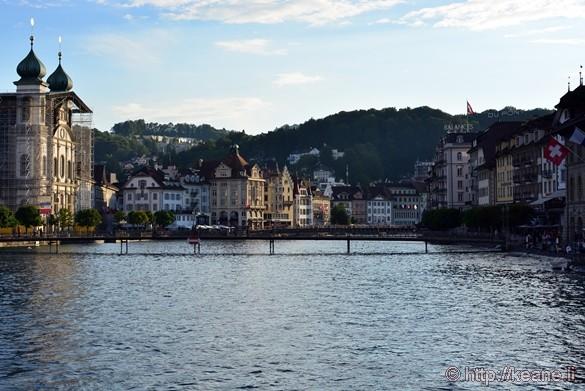 Lucerne Jesuit Church (Jesuitenkirche) and the River Reuss