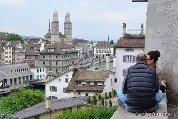 View of Historic Zürich from Lindenhof