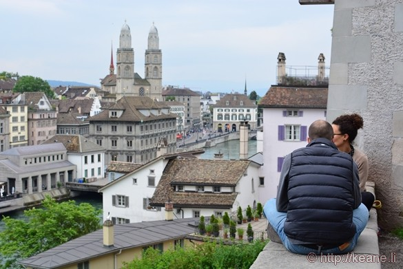 View of Historic Zürich from Lindenhof
