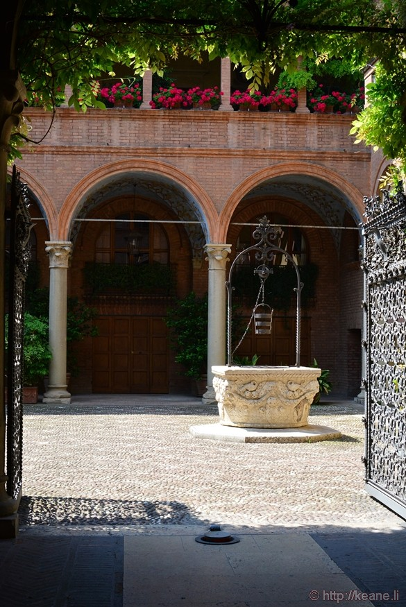 Courtyard with Well in Bologna