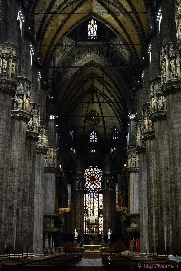 Inside Milan's Duomo