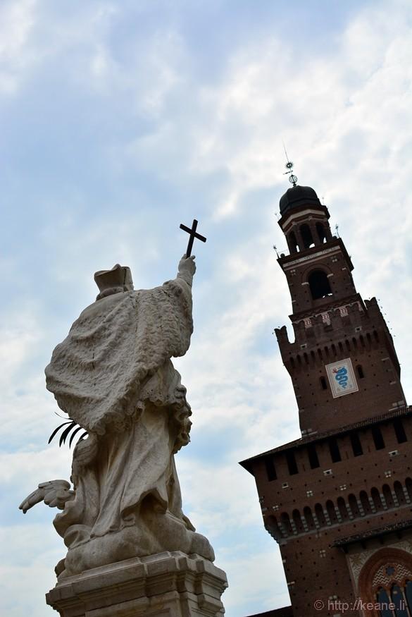 Castello Sforzesco Sculpture and Tower