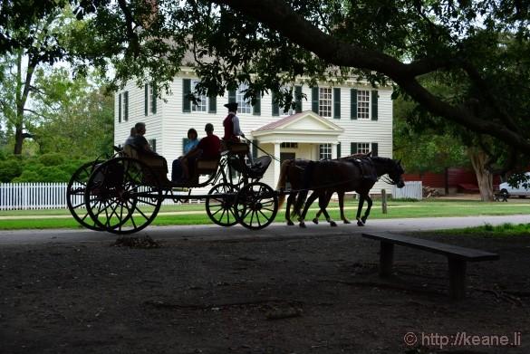 Colonial Williamsburg - Horse-drawn Carriage on Nicholson Street