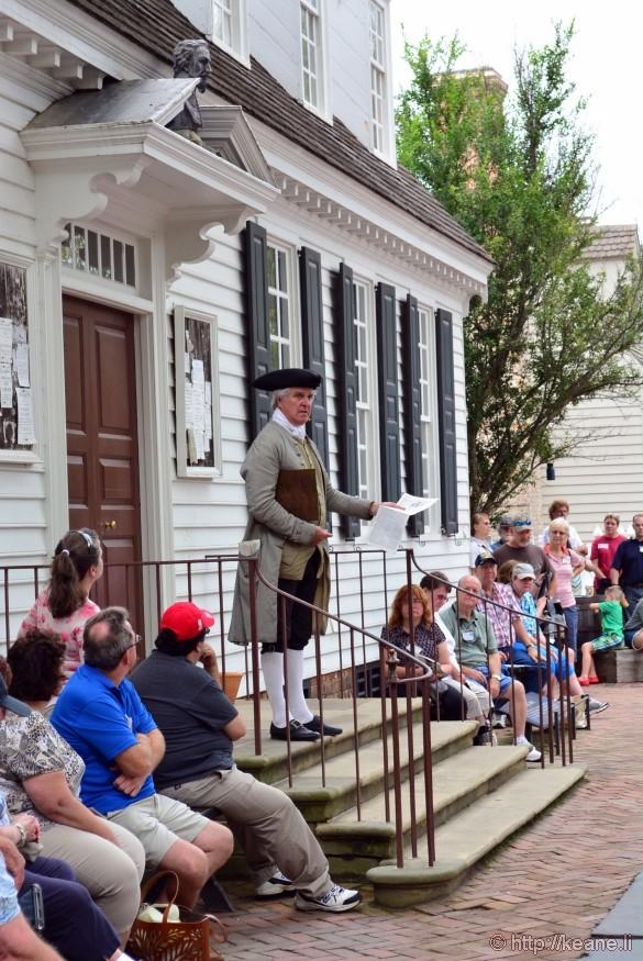 Colonial Williamsburg - A Public Announcement