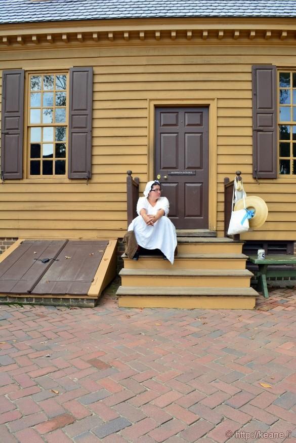 Colonial Williamsburg - Woman Resting