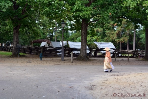 Colonial Williamsburg - Woman Walks by Camp