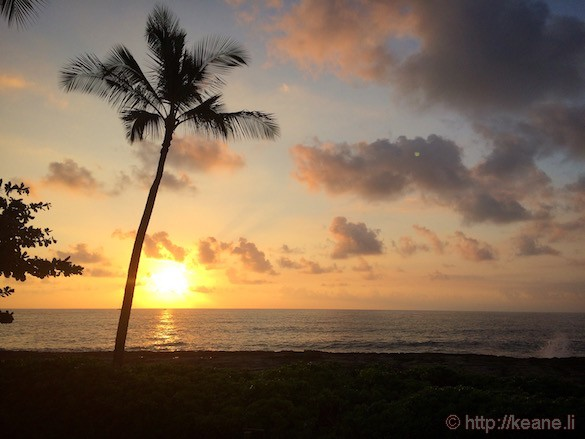 Oahu - Sunset Over Beach