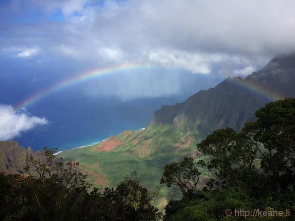 Kauai - Rainbow Over the Na Pali Coast