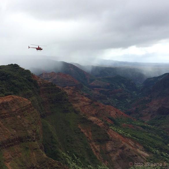 Kauai - Helicopter Over Waimea Canyon