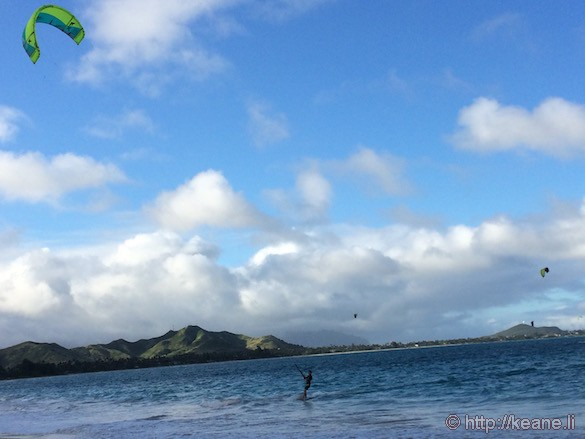 Oahu - Windsurfers at Kailua Beach Park