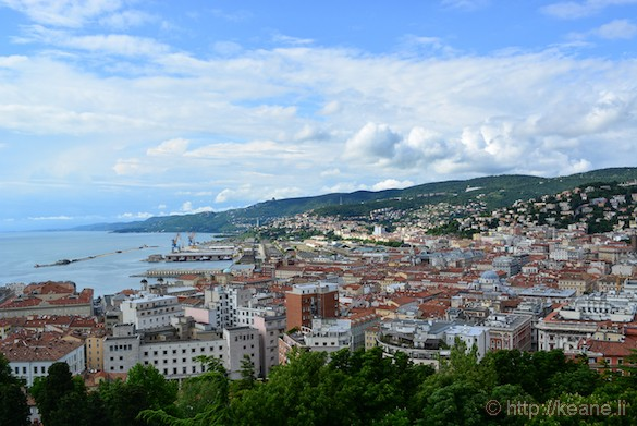 View from the Castello di San Giusto in Trieste