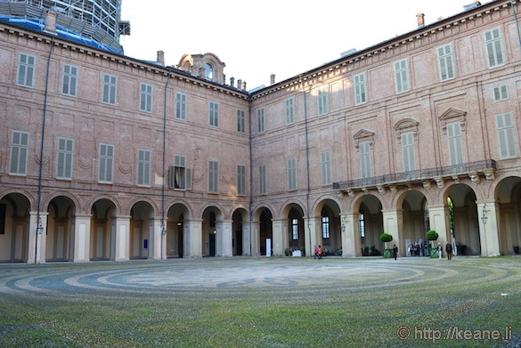 Inside Palazzo Reale in Turin