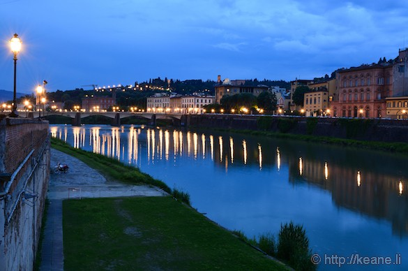River Arno in Florence at Night