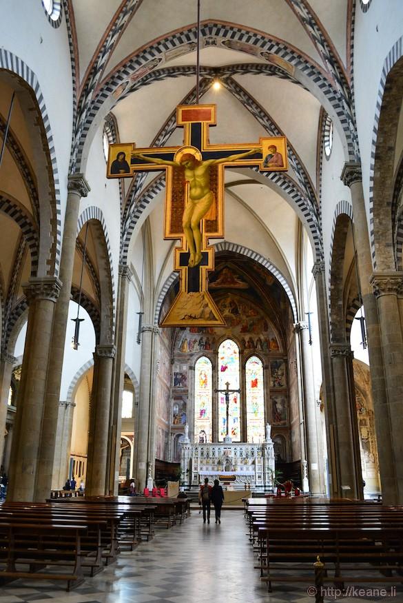 Inside the Basilica di Santa Maria Novella