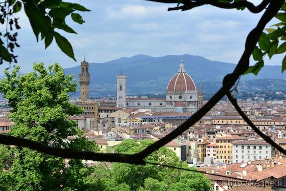 View of the Florence Duomo from Giardino Bardini