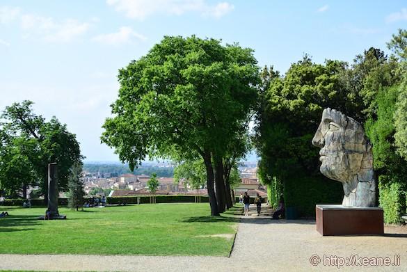 Giardini di Boboli and Mitoraj Sculpture