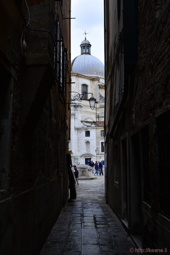 Venice Alleyway and Church